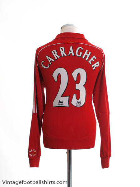 2006-08 Liverpool Home Shirt Carragher #23 L/S L