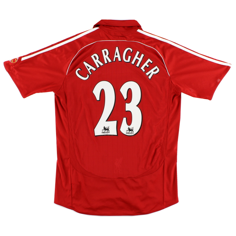 2006-08 Liverpool Home Shirt Carragher #23 M - 053327