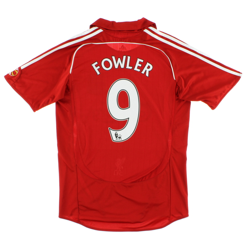 2006-08 Liverpool Home Shirt Fowler #9 S - 053327
