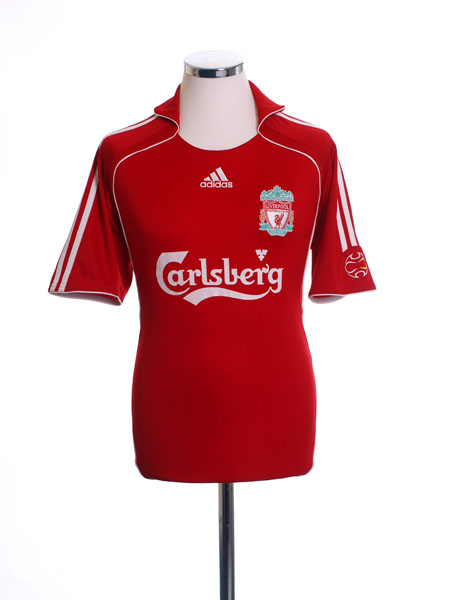 09a53c17b 2006-08 Liverpool Home Shirt Gerrard  8 L for sale