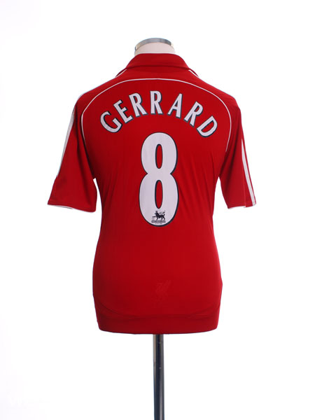 2006-08 Liverpool Home Shirt Gerrard #8 M - 053327