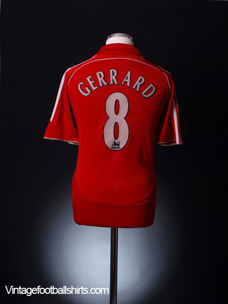 2006-08 Liverpool Home Shirt Gerrard #8 XL.Boys