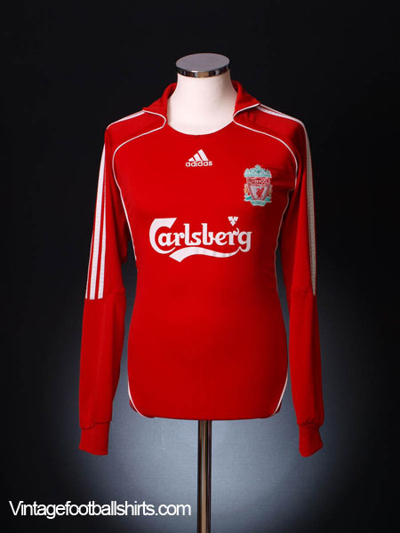 2006-08 Liverpool Home Shirt L/S L