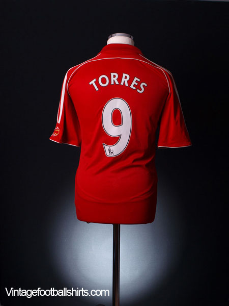 2006-08 Liverpool Home Shirt Torres #9 S