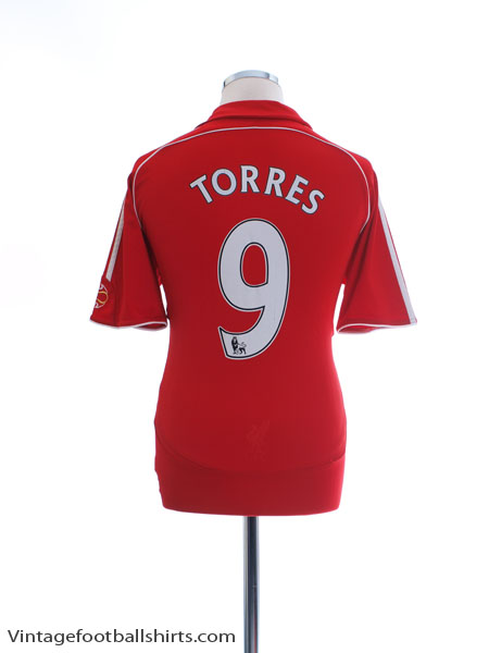 2006-08 Liverpool Home Shirt Torres #9 M - 053327