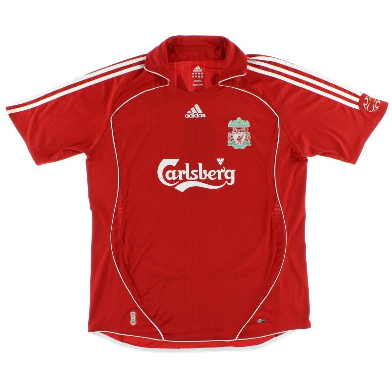 2006-08 Liverpool adidas Home Shirt M - 053327