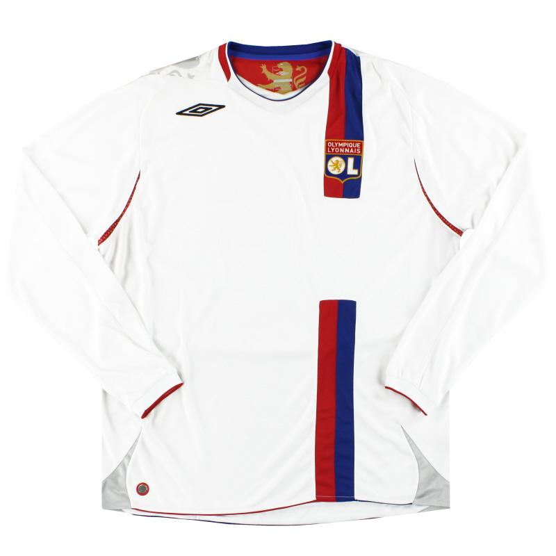2006-08 Lyon Umbro Home Shirt L/S XL
