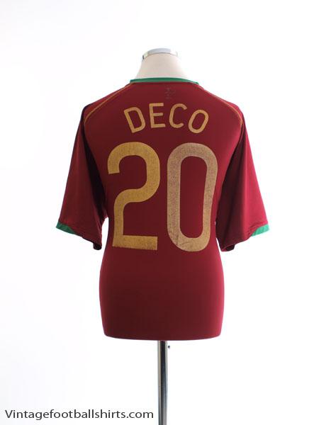 2006-08 Portugal Home Shirt Deco #20 XL - 119265