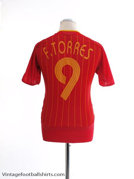 2006-08 Spain Home Shirt F. Torres #9 M