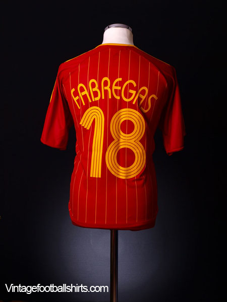 2006-08 Spain Home Shirt Fabregas #18 M