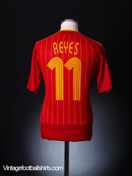 2006-08 Spain Home Shirt Reyes #11 M