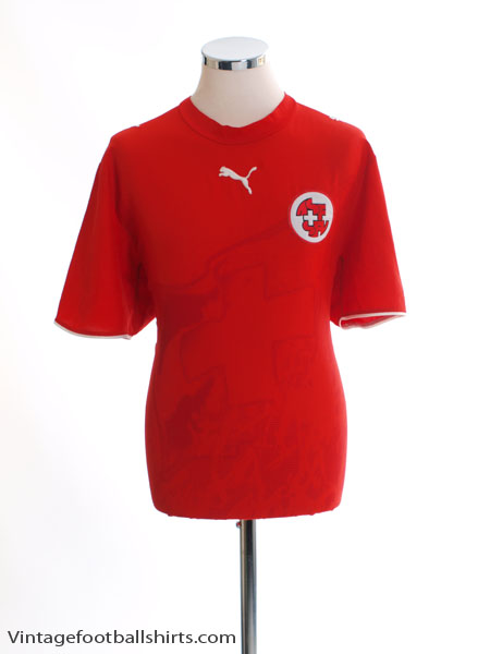 2006-08 Switzerland Home Shirt *Mint* M