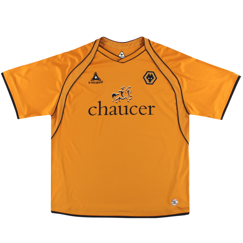 2006-08 Wolves Le Coq Sportif Home Shirt L