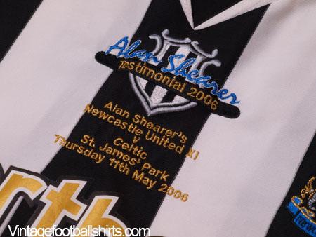 best sneakers 535e1 c7c07 2006 Newcastle 'Alan Shearer's Testimonial' Home Shirt *Mint ...