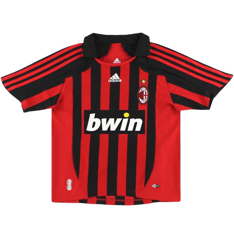 2007-08 AC Milan adidas Home Shirt M.Boys - 695032