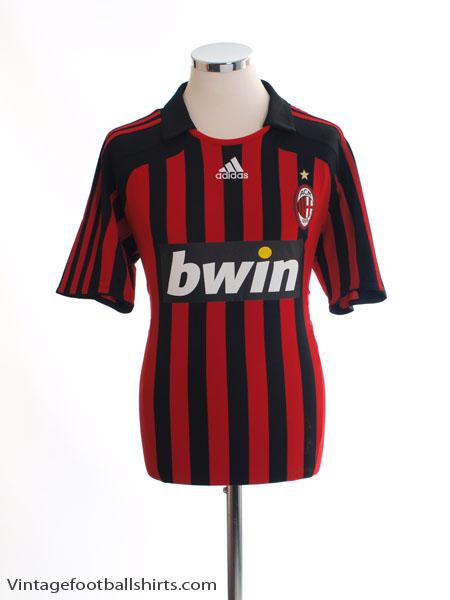 2007-08 AC Milan Home Shirt M