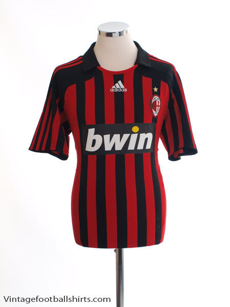 2007-08 AC Milan Home Shirt XL - 695041
