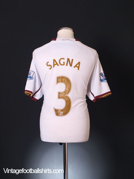 2007-08 Arsenal Away Shirt Sagna #3 XL