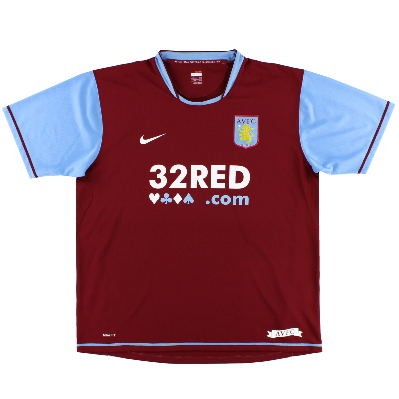 2007-08 Aston Villa Home Shirt M