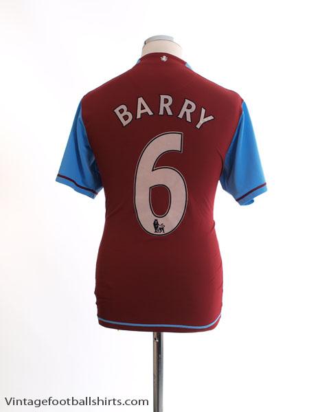 2007-08 Aston Villa Home Shirt Barry #6 M