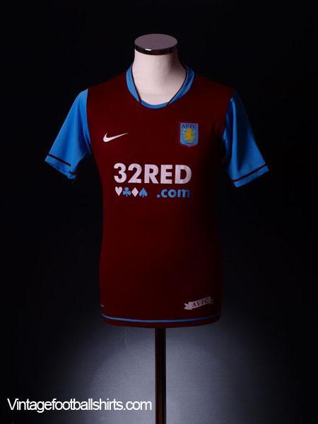 2007-08 Aston Villa Home Shirt L