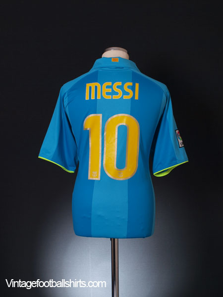 2007-08 Barcelona Away Shirt Messi #10 XL