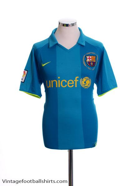 2007-08 Barcelona Away Shirt L - 237743-414