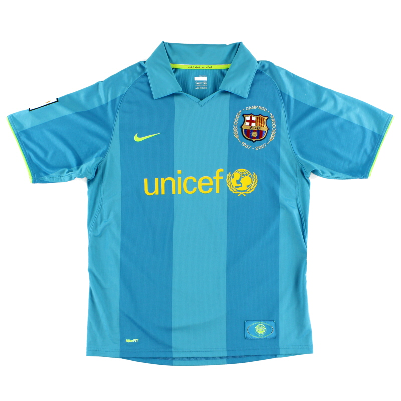 2007-08 Barcelona Away Shirt S - 237743-414