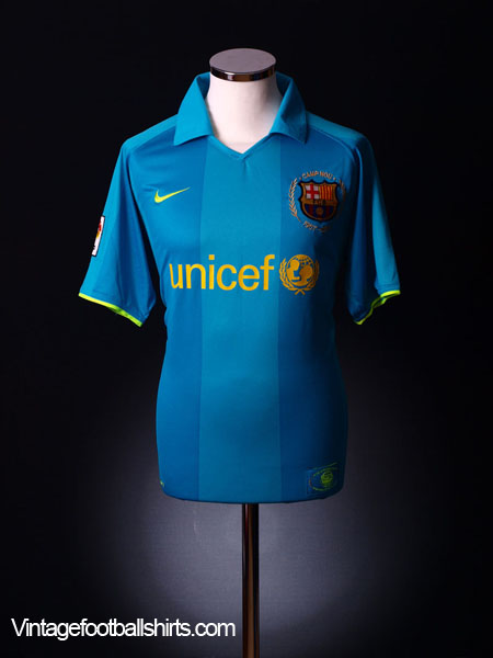 2007-08 Barcelona Away Shirt XL.Boys