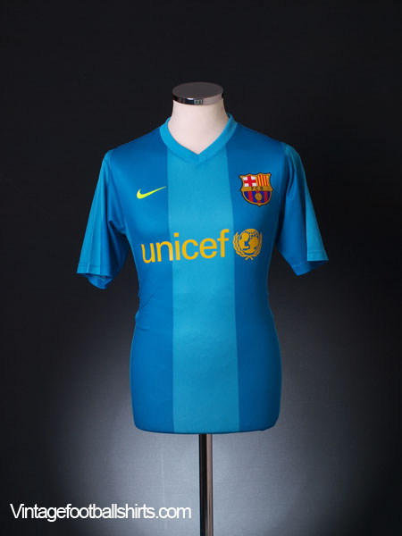 2007-08 Barcelona Basic Away Shirt S