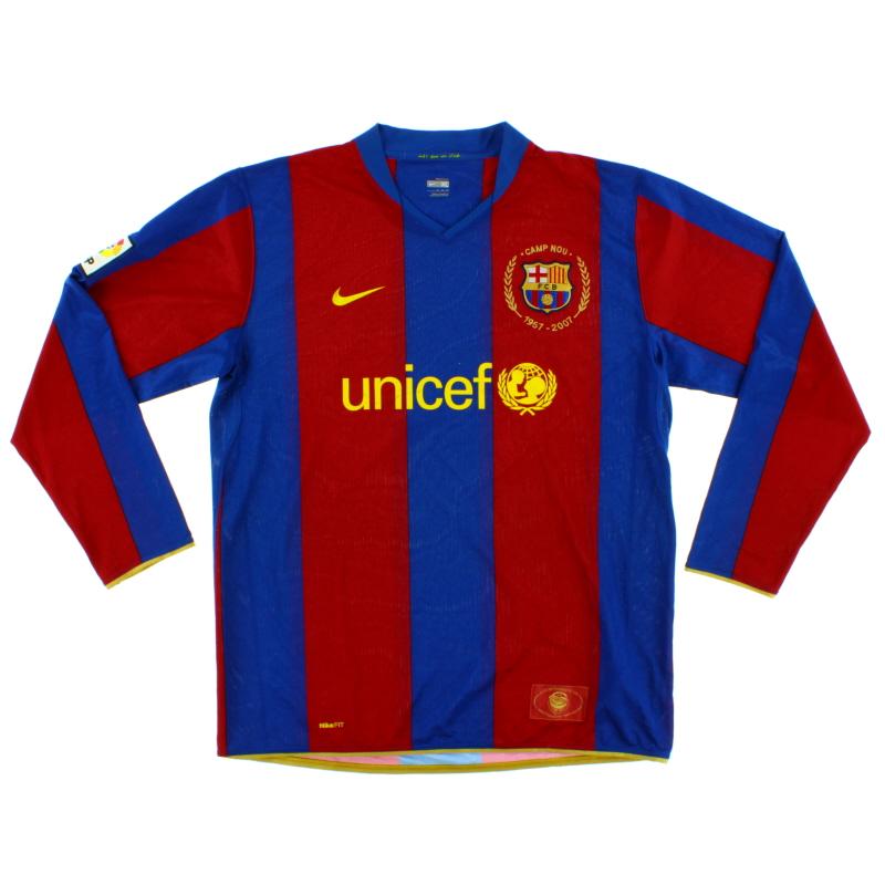 2007-08 Barcelona Home Shirt L/S XL - 244533-655