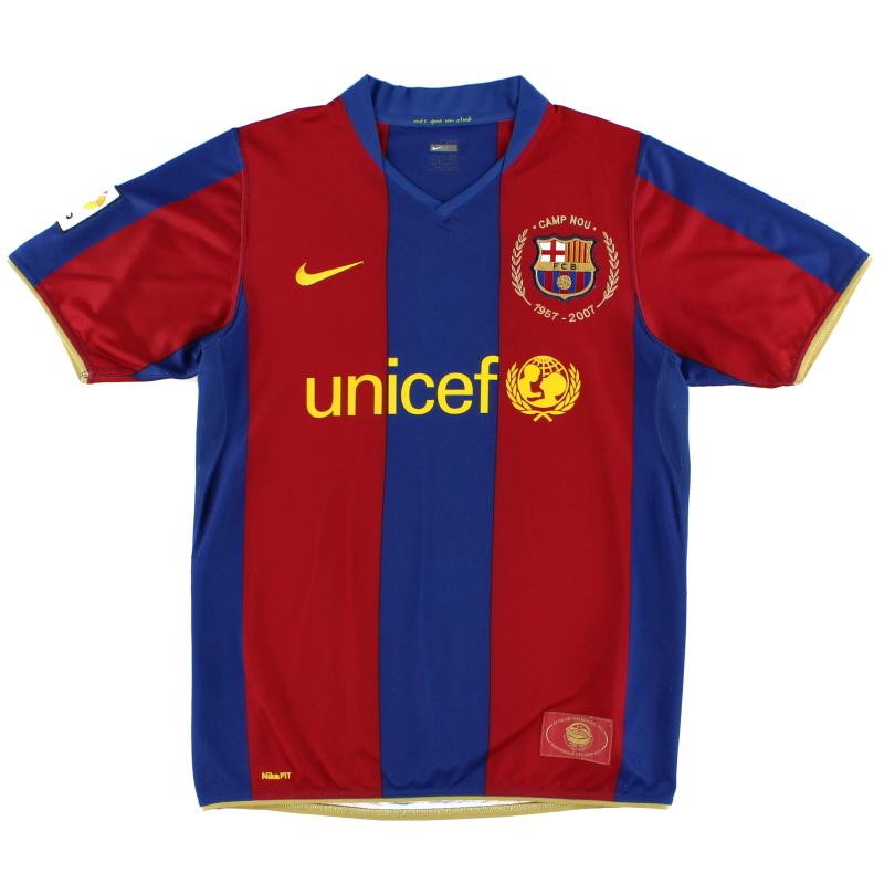 2007-08 Barcelona Home Shirt *Mint* M - 237741-655