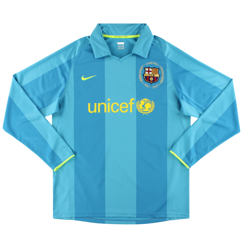2007-08 Barcelona Nike Player Issue Away Shirt L/S *Mint* L