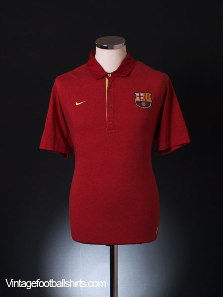 2007-08 Barcelona Polo Shirt L