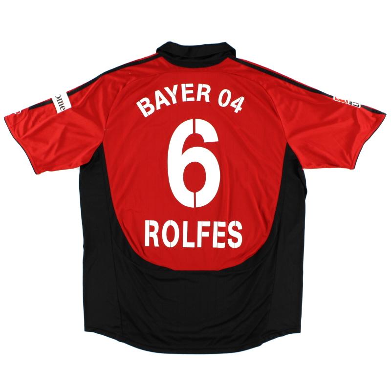 2007-08 Bayer Leverkusen Match Issue Rolfes #6 XXL - 558080