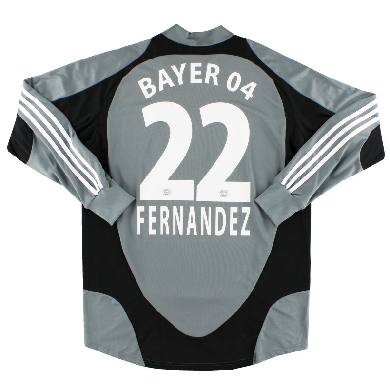 2007-08 Bayer Leverkusen Player Issue GK Shirt Fernandez #22 L