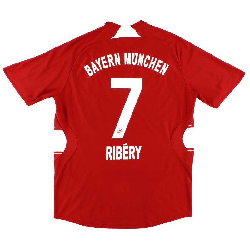 2007-08 Bayern Munich Home Shirt Ribery #7 L - 688134