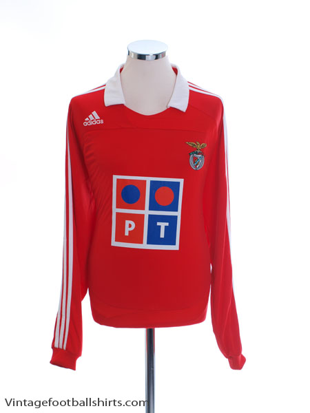 2007-08 Benfica Home Shirt L/S *w/tags* L - 694847