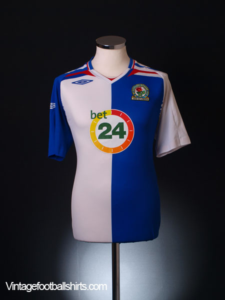 2007-08 Blackburn Home Shirt M