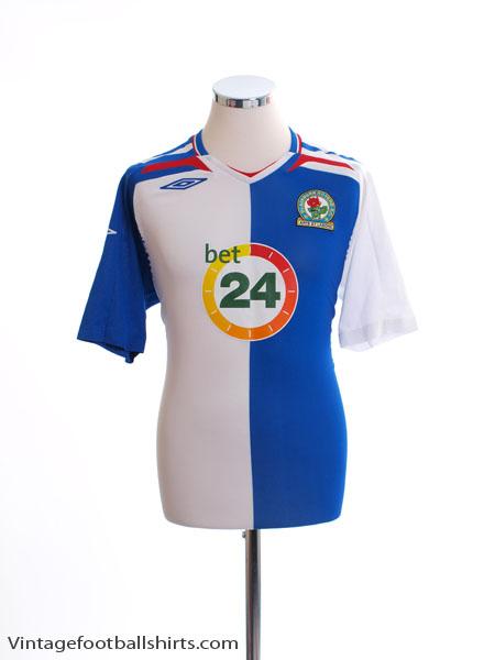 2007-08 Blackburn Home Shirt M