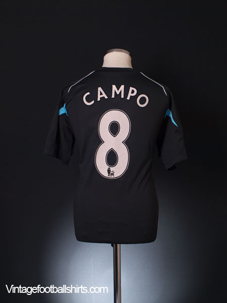 2007-08 Bolton Away Shirt Campo #8 L