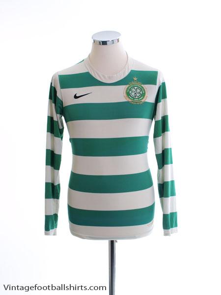 2007-08 Celtic Home Shirt L/S S