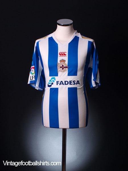 2007-08 Deportivo Home Shirt L