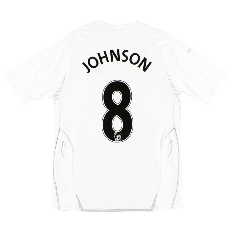 2007-08 Everton Away Shirt Johnson #8 XL.Boys