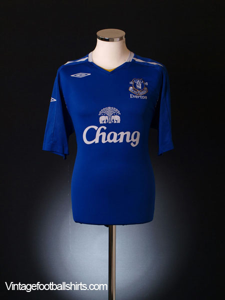 2007-08 Everton Home Shirt M