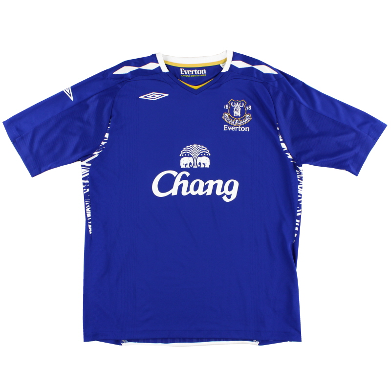 2007-08 Everton Umbro Home Shirt L