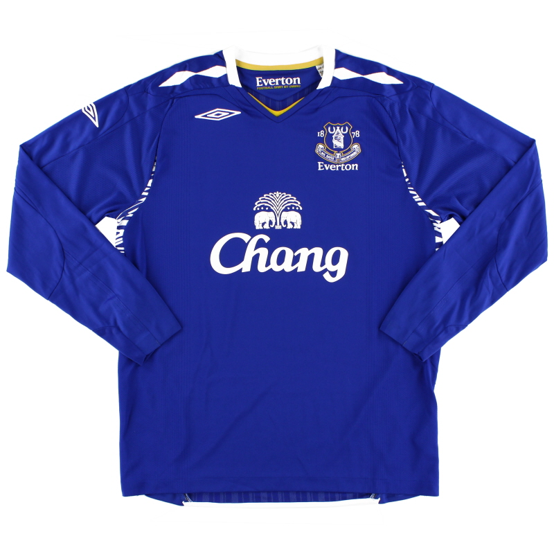 2007-08 Everton Home Shirt L/S L