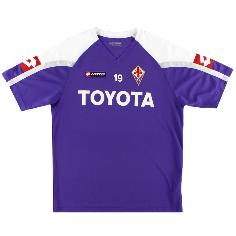 2007-08 Fiorentina Player Issue Lotto Training Shirt #19 L