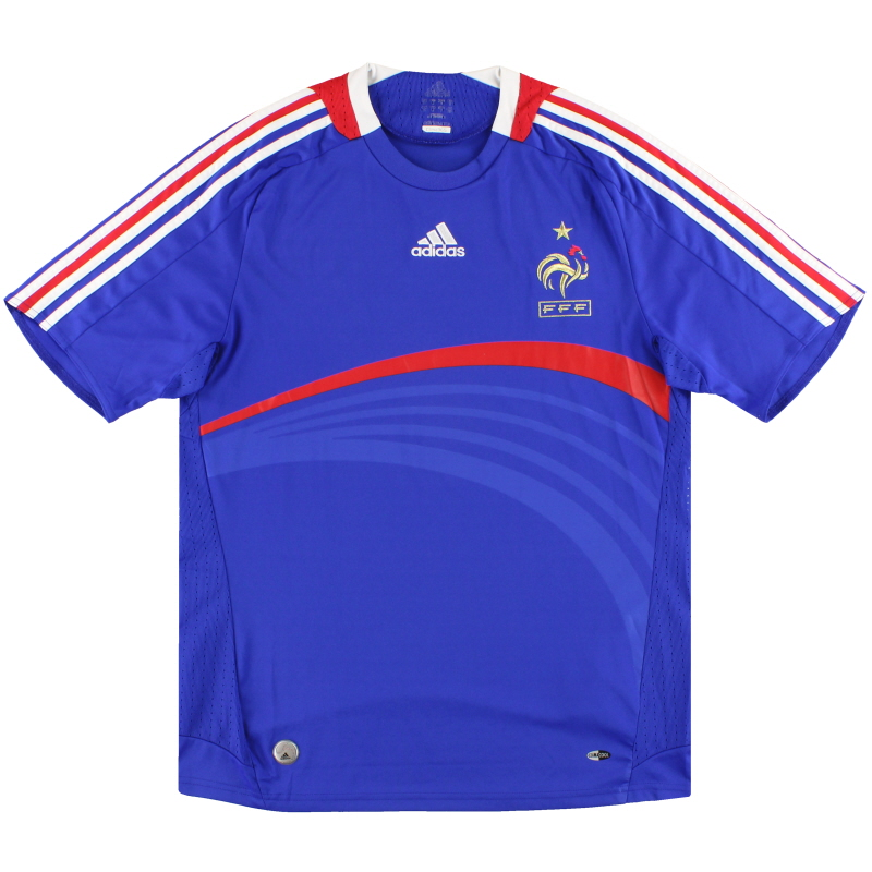 2007-08 France adidas Home Shirt *Mint* L - 620139