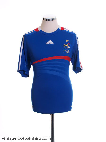 2007-08 France Home Shirt L - 620139